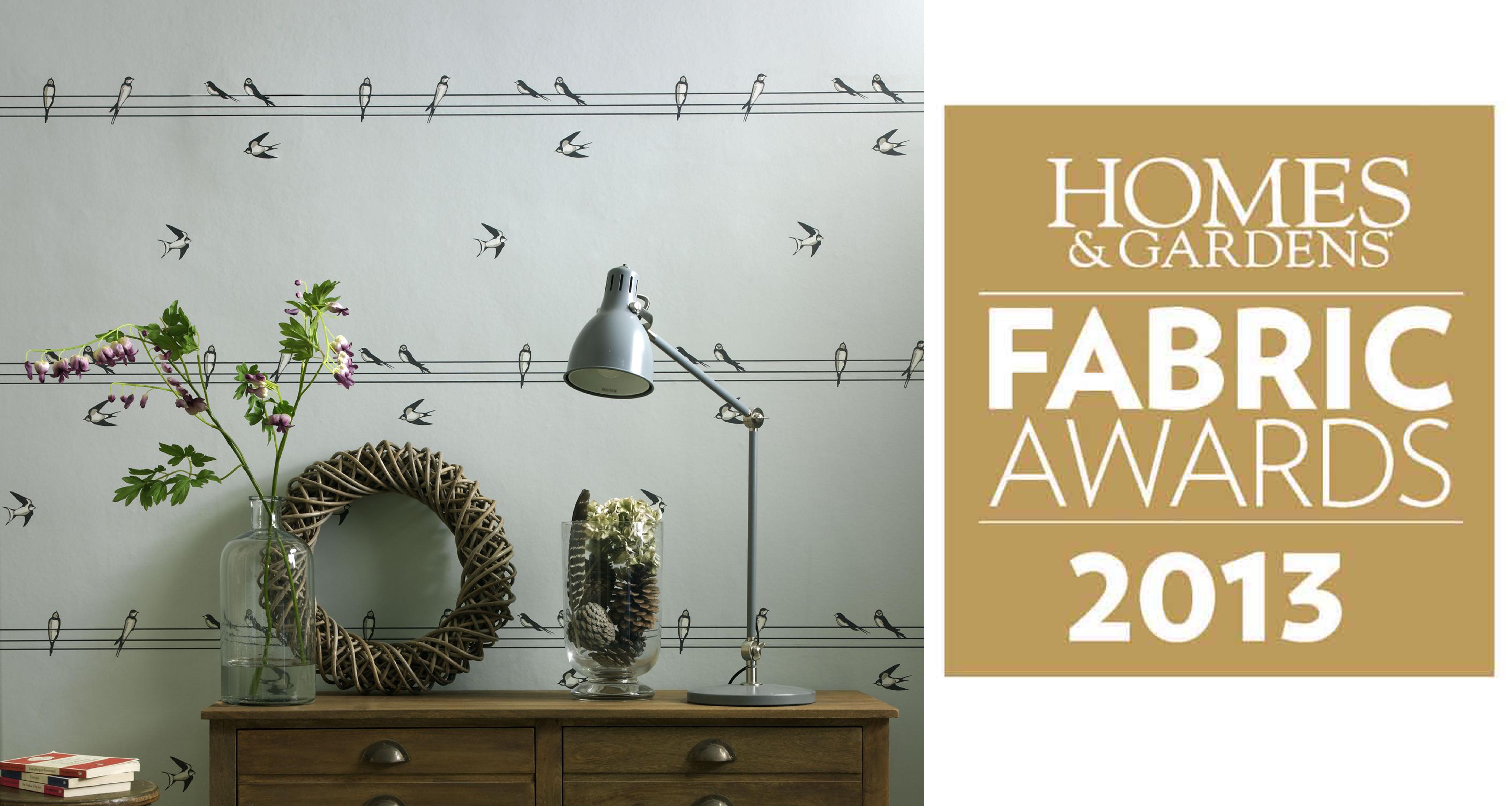 Read more about On A Wire celebrates runner up in Homes and Gardens Fabric Awards 'Best wallpaper over £40 a roll'